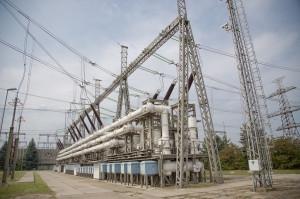 Az állomás 400 kV-os elosztóberendezése