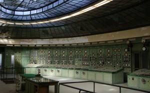 A 2005-ig működő villamos vezénylőterem